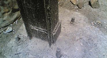 اتصالات ستون به صفحه زیر ستون