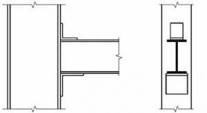 اتصال تیر به ستون با نبشی + اتصال ساده به وسیله نبشی جان