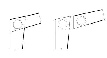 سوله و اتصال گوشه با ورق